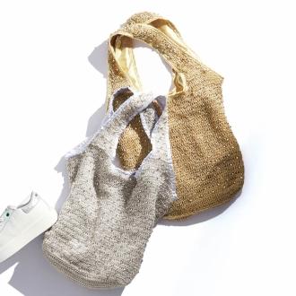 Beads shoulder bag