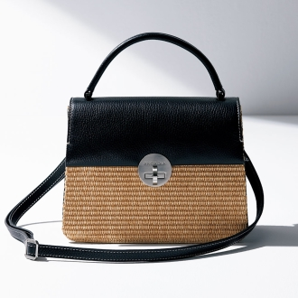 ARCADIA / Arcadia material combination 2WAY bag (made in Italy)