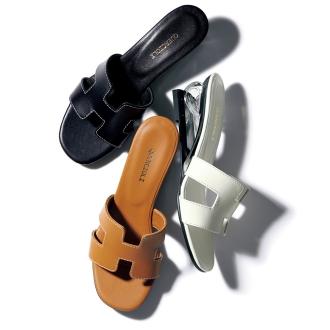 鞋跟設計平底拖鞋