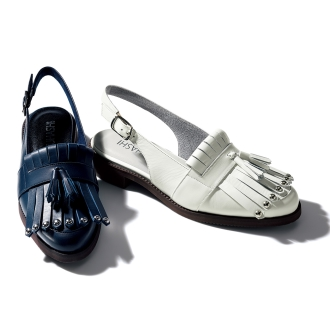 Quilt Tsukai back strap sandals