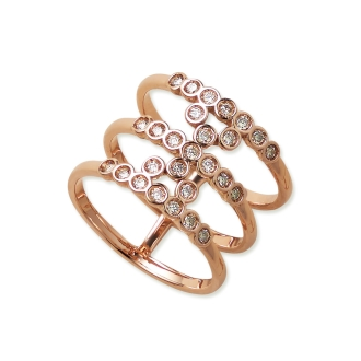 K18 0.3ct棕色钻石戒指设计