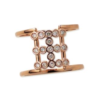 K18 0.2ctブラウンダイヤ デザイン リング