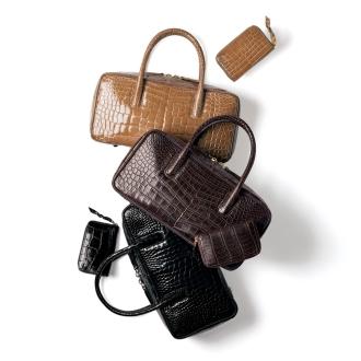 ミニ財布付き クロコダイル ハンドバッグ