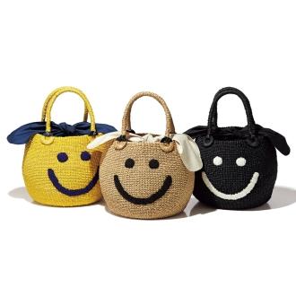 a-jolie / Ajori Smile embroidery basket bag
