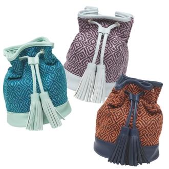 陰天/多雲肯特布衣料的織物拉繩袋