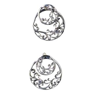 HEIRLOOM / Heirloom SV round Sky earrings