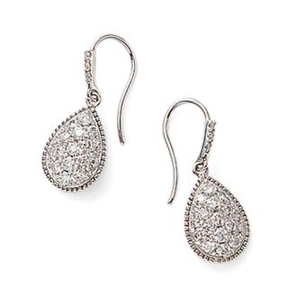 K18 1.0ct diamond earrings