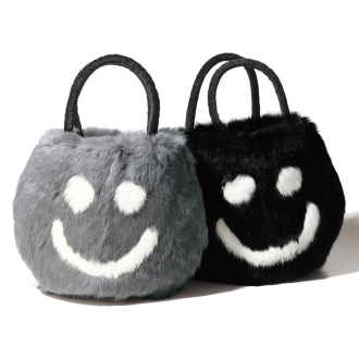 a-jolie / Ajori rabbit fur Smile bag