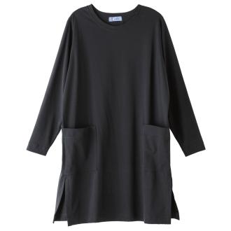 bx/ビーエクス スーピマコットンジャージー クルーネックチュニックTシャツ 【大きいサイズ L・LL・3L・4L】