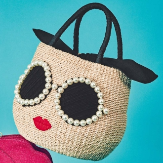 一个-朱莉/ Ajori太阳镜篮袋