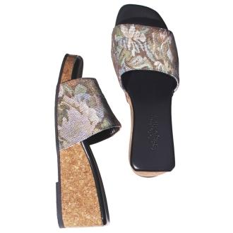 Casselini / Kyaserini floral jacquard sandals