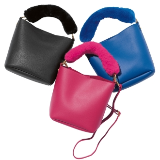 DRES / dress fur handle bag
