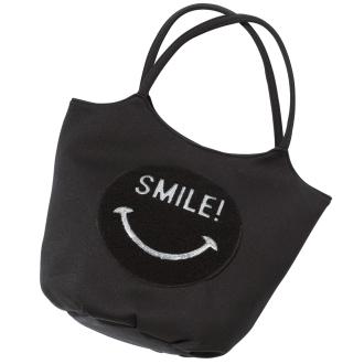 DRES /裙桩和笑脸手提包亮片刺绣