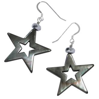 MIQUILA / Mikira black shell earrings