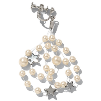 Parts Tsukai pearl Earrings of star