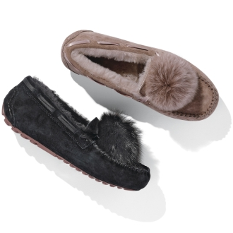 Fox Fur driving shoes