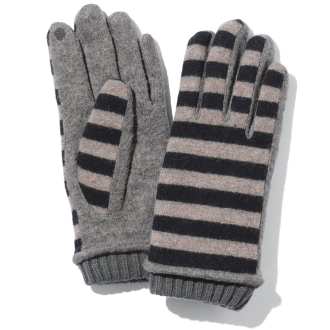 Karyn / Caryn stripe knit glove