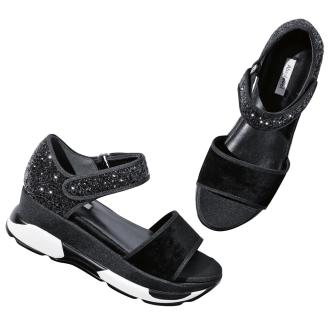 Glitter sports sandals
