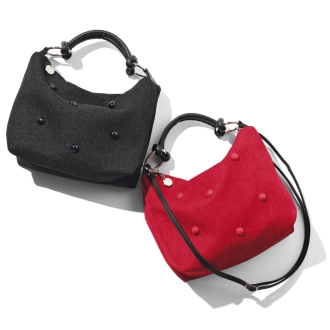 Teresa Cambi/テレサカンビ ドット飾りバッグ(イタリア製)