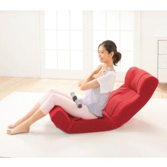 ピュアフィット 快適ソファー座椅子 らくらく腹筋生活DXブラウン