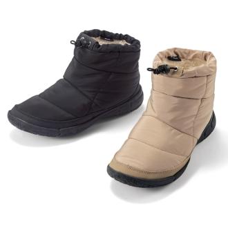 腳Fuwamoko絎縫靴子
