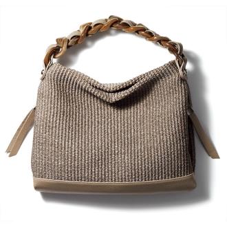 LANZETTI / Ranzetti material combination bag (made in Italy)