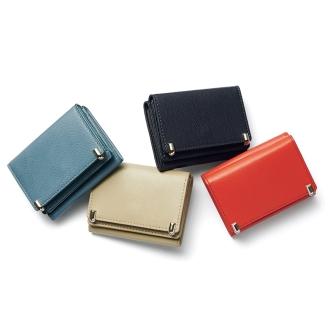 三つ折り コンパクト レザー 財布