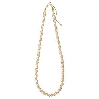 K18日本Akoya珍珠宝宝项链编织