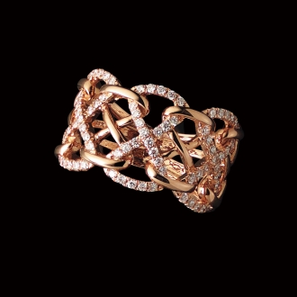 K18 0.4ct diamond design ring