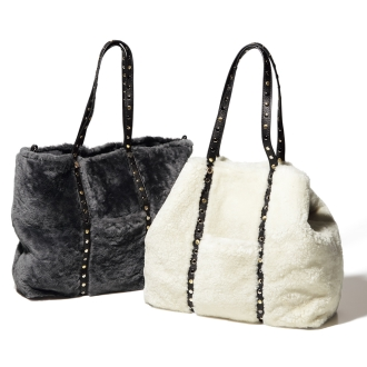 Studded design Mouton Tote Bag