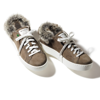 WOMSH / Womushu fur Tsukai suede sneakers (made in Italy)