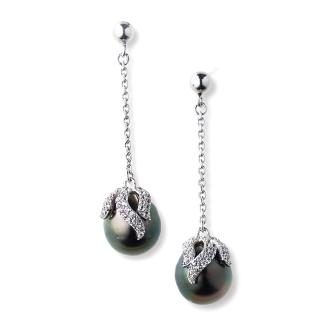 SV10毫米黑蝴蝶珍珠耳環的設計