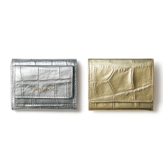 Compact wallet Press BARDOT ROSE / Forest Rose Croco