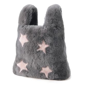 Rex rabbit fur tote bag