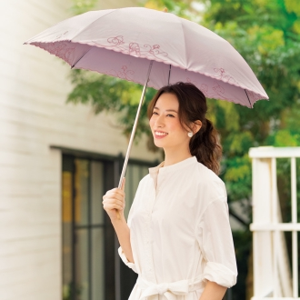 The light-shielding the primary lightweight thermal barrier UV cut folding parasol (rain or shine combined use)