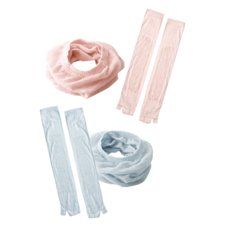 Cotton, linen, UV neck and arm cover set