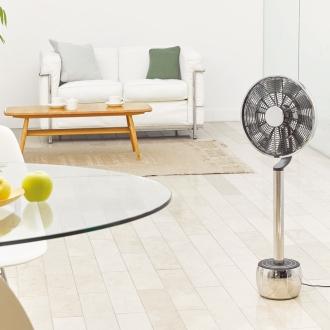 ディノス オンラインショップ360度回転する扇風機 ピルエット ステンレスモデル