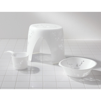 バスチェア&洗面器&手桶セット(ランセット バスシリーズ)
