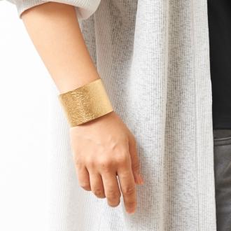 (Width 60mm) TIN BREATH / Tin breath bracelet gold color [NAGAE + / Nagara Puryusu]