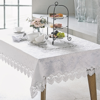 Width 124 depth 178cm (cross of water-repellent lace table)