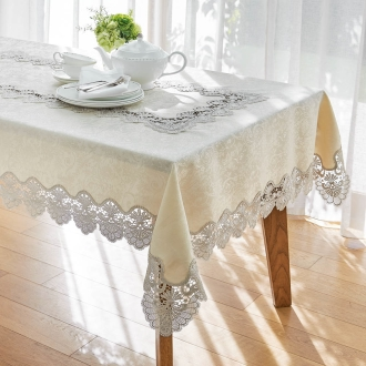 Width 115 depth 148cm (cross of water-repellent lace table)