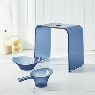 Fosukia bus series Bath chair and wash basin and pail