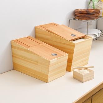 Rice bin maximum capacity 6kg of Tatsuyuki Hashimoto assistant crafts cypress