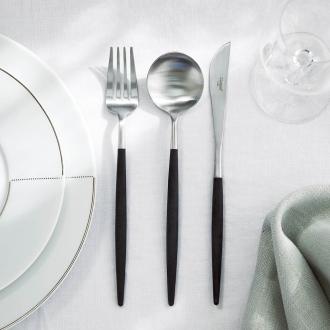 Cutipol GOA / Kuchiporugoa cutlery 3-piece set black × Silver