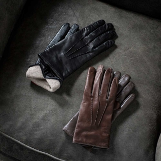Made in Italy CARIDEI (Karidei) \ntouch panel corresponding Leather Gloves for women