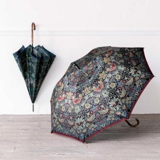 V & A Morris <strawberry thief> jacquard fabric rain or shine combined umbrella length umbrella