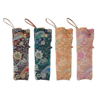V & A Morris <strawberry thief> jacquard fabric rain or shine combined umbrella folding umbrella