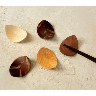 天然木の箸置き5個セット