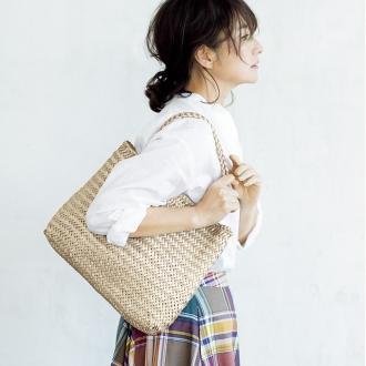 dragon / Dragon leather mesh tote bag