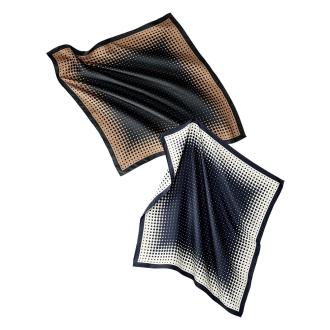 シルクツイル ドット柄 スカーフ